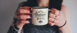 adventure begins mug